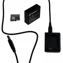 Battery and Charger with MicroSD 64G for XPRO3
