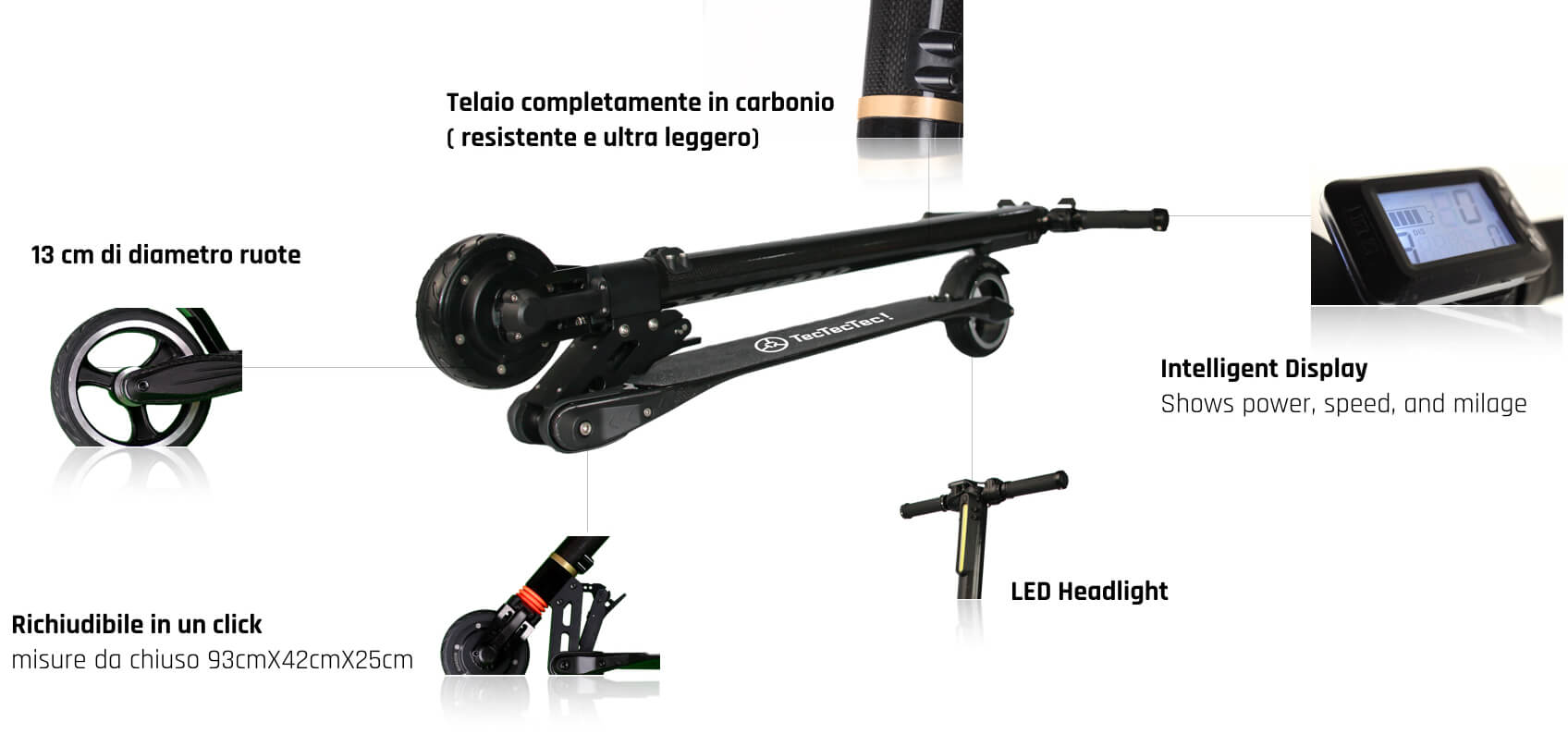 TecTecTec Scooter Elettrico TPRO1+