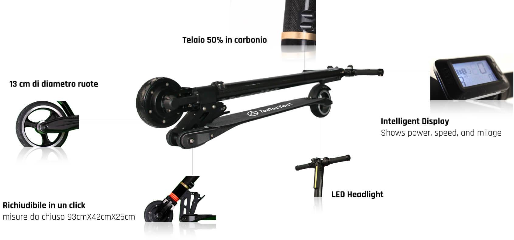 TecTecTec Scooter Elettrico TPRO1